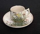 Japanese Satsuma cup and saucer