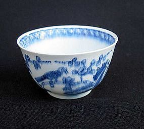 Blue and white Bow tea bowl