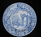Clews blue and white transfer printed plate