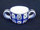 Vallauris Picault blue and white small pot