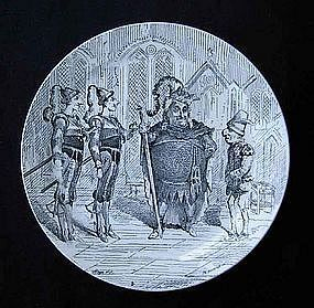 French transfer printed plate, Bouffes Parisiens