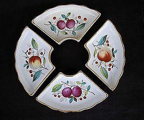 Four German Poppelsdorf  dishes