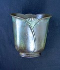 Art Déco bronze vase by Just Andersen