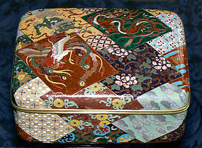 Wonderful Japanese Cloisonne Enamel Box - Honda