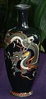 Fine Japanese Cloisonne Enamel Vase - Dragon