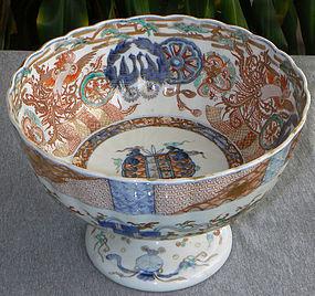Fine Japanese Imari Porcelain Pedestal Bowl