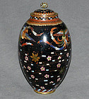 Unusual Japanese Cloisonne Enamel Jar