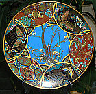 Beautiful Japanese Cloisonne Enamel Plate