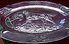 Art Nouveau Pewter Plate