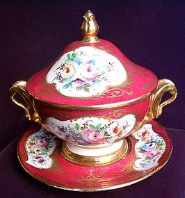 French Porcelain Marmalade Dish Set