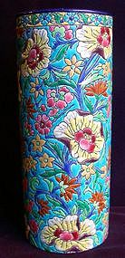 French Enameled Ceramic Vase