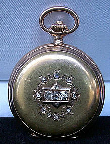Swiss HUMBERT-RAMUZ 18K Pocket Watch