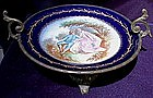 A Bronze Mounted Sevres Porcelain Dish