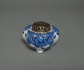 Japanese Blue & White Incense Burner