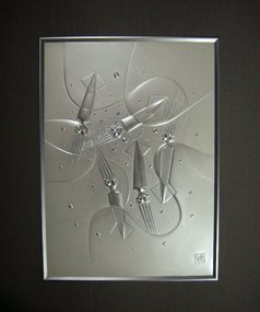 Japanese Metal with Makie Relief Squid by Onaga Tamotsu