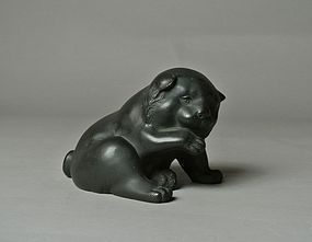 Japanese Bronze Statue Puppy