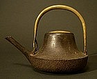 Japanese Iron Sake Ewer, Choshi