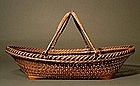 Japanese Bamboo Ikebana Basket by Chikuunsai I