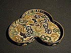Japanese Shippo Cloisonne Tea Tray Dragon Motif