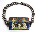 Fantastic Enameled Home Front Bracelet, WII