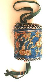 Antique Chinese Silk Archer's Ring Holder or Purse
