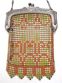 Whiting and Davis Deco Enamel Mesh Child�s Purse