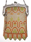 Whiting and Davis Deco Enamel Mesh Child's Purse