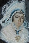 Early 19th C Continental Portrait Miniature, Woman