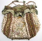 1830's Ladies' Reticule, Metallic Lace, Spangles