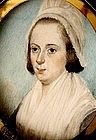 English School Portrait Miniature, Eliz. Rowe