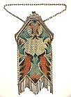 Mandalian Deco Enamel Mesh Purse, Birds