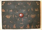 19th C Decoupage Wood Box, American
