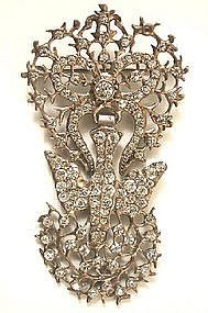 French 19th C Paste Saint Esprit Brooch