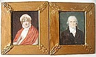 Pair of English Provincial Portrait Miniatures, 1820