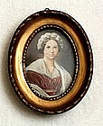 Portrait Miniature of Lady Circa 1850