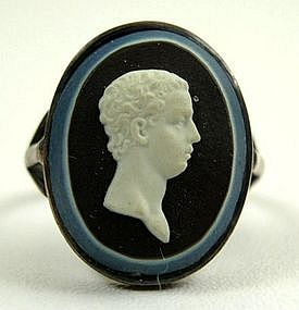 Wedgwood and Bentley Jasper Cameo Ring, ca 1779