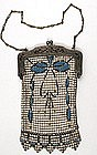 Whiting and Davis Mesh Purse, Art Nouveau Design