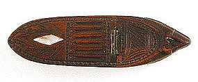 Early 19th C Wooden Shoe Snuff Box