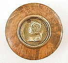 19th C Burl Snuff Box - King Louis Phillipe