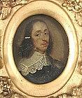 Flemish School Portrait Miniature circa 1670