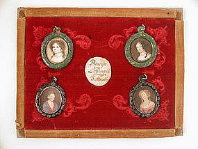 Miniature Portraits (4) incl. Princess, 1685