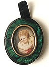 18th C Portrait on Ivory – Charming Cherub!