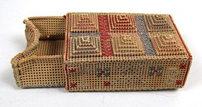 Terrific Antique Punch Work Box, Cross Stitch