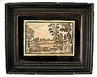 18th C English Embroidered Picture