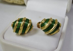 Retro Tiffany & Co Schlumberger 18k gold earrings