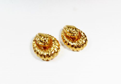 Retired Tiffany & Co. 18k gold door knocker earrings