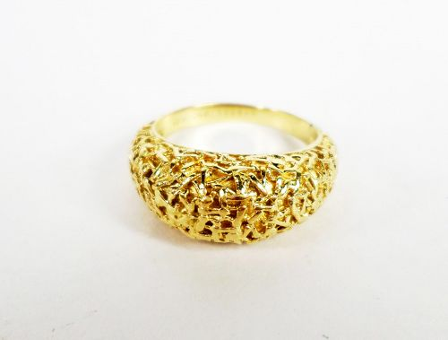 Estate Van Cleef & Arpels 18k gold dome ring