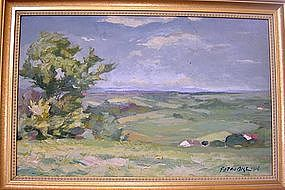 Impressionist landscape painting by F.Standill