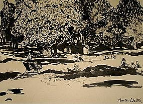 American ink painting by Martha Walter (1875-1976)