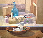 Modern still life painting by David Ratner 1922-2005